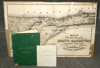 BATTLE OF HARLEM HEIGHTS 1906 INSCRIBED TO ELROY AVERY W/ 1868 MAP & 1876 INSERT
