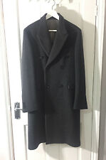 Alexander McQueen Mens Dark Grey cashmere double breasted coat RRP £2,145.00