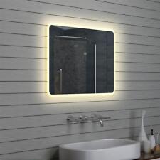 Design LED Badezimmerspiegel Badspiegel Wandspiegel Lichtspiegel 80x60cm M1586