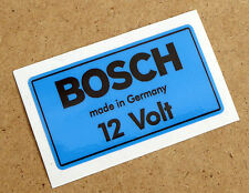BOSCH 12V BLUE Coil Sticker Decal Vintage PORSCHE 356 911 VW BEETLE T2 Camper