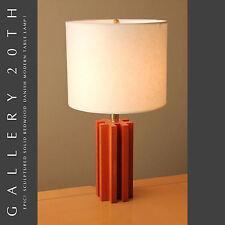 MID CENTURY DANISH MODERN SOLID REDWOOD DESK LAMP! ATOMIC LIGHTING 50S VTG RETRO
