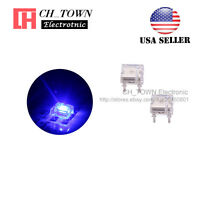 100pcs Flat Top Piranha Super Flux Blue Light LED Diodes Ultra Bright Bulb USA