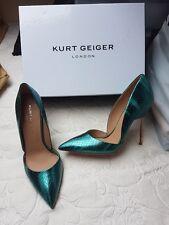 Kurt Geiger Bond green metallic pointed toe court  heels size 6 (EU 39) BNIB
