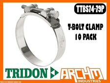 TRIDON TTBS74-79P T-BOLT CLAMP HOSE 10 PACK 74MM-79MM ALL STAINLESS TTBS SERIES