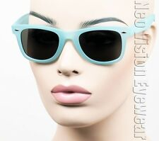 Rxable Large Wayfarer Retro Sunglasses Vintage Style Smoke Matte Blue L01