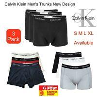 3 X Genuine CALVIN KLEIN Men's Underwear CK Cotton Trunk S M L XL AU Stock
