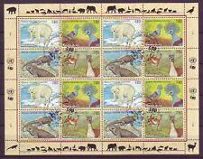 UNO Genf 1997 gestempelt MiNr. 305-308 Zd-Bogen  Gefährdete Arten