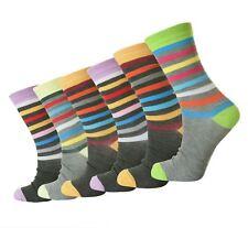 12 Pairs Ladies Womens Summer Cotton DESIGNER Colourd Socks Uk4-7 Eu35-39 L10529