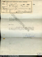 1939 Letter-Donation From Indiana Highway Commission To Democratic Committee