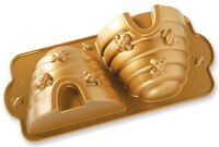 Nordic Ware Cast Aluminum 10 Cup Beehive Cake Baking Pan Gold 54577 NEW