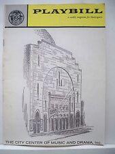 SOUTH PACIFIC Playbill ALLYN ANN McLERIE / WILLIAM CHAPMAN/ ROSETTA LE NOIRE `61