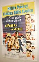 Filmplakat,Plakat,EL PODER Y LA PASION,CHARLON HEESTON,YVETTE MIMIEUX #157