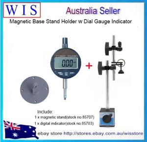 2/PK Magnetic Base Stand Holder for Dial Gauge Indicator with Digital Indicators