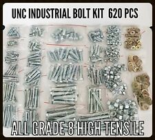 620 PC Grade 8 High Tensile Industrial Farm Kit UNC Imperial Bolt,Nut & Washer