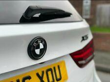 BMW F15 F16 Gloss Black Rear Badge Ring cover X5 X6 boot F85 F86