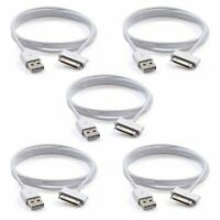 5x USB Sync Data Charging Charger Cable Cord fits iPhone 4 4S iPod Touch 4th Gen