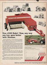Original 1977 Hesston Hay Baler Magazine Ad