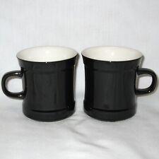 New listing Set of 2 Carico Casual Collection Illusion Black/White Coffee Mug Tea Cup