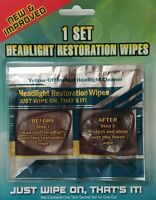Headlight Restoration Kit Headlamp Restore Cleaner Lens Restorer Wipe No Sanding