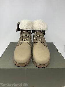 Timberland // Jayne Fleece Fold Down [Light Brown Nubuck] Boots (W10-Medium)