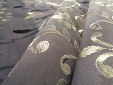 Embroidered Taffeta (per metre) 'Birch', dress fabric, womenswear