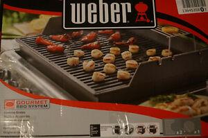 Weber 8848 Gourmet BBQ System Grillrost-Einsatz für Genesis 300 - Schwarz
