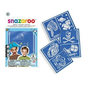 BOYS Snazaroo Face Painting Stencils 6 Designs For Kids Face Paint Make Up
