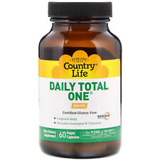 Country Life Daily Total One Iron-Free 60 Vegan Capsules Gluten-Free, Gmp