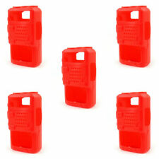 5x Rubber Soft Handheld Case Holster For BaoFeng Uv-5R/5Ra/5Re Plus Radio Red