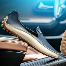 New Fashion Mens Comfy Leather Flats Driving Moccasin Loafer Casual Shoes
