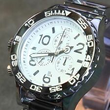 NEW NIXON 42-20 Chrono High Polish Silver / White Watch MEN GIFT FAST SHIP!