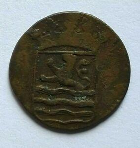 NETHERLANDS EAST INDIES, VOC ZEELAND 1 DUIT 1790 Used in Sri Lanka (Ceylon)