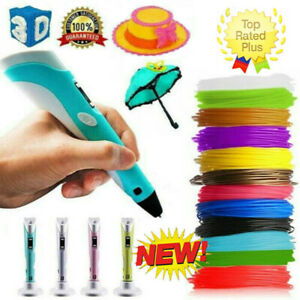 3D Printing Pen Doodle Drawing Art Printer+ 3 X3M Kids Intelligent Crafting Gift