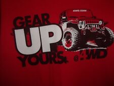 JEEP Gear Up Yours 4WD red L t shirt