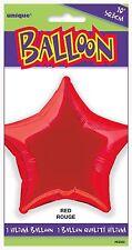 Red Foil Star Shape Balloon 20 Inch 50.8cm