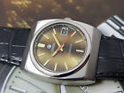 NICE & RARE VINTAGE ROAMER SEAROCK DATE BROWN DIAL AUTOMATIC MOVEMENT GENTS.