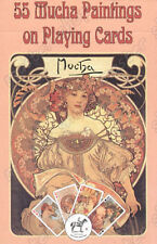 MUCHA PAINTINGS PLAYING CARDS, RUMMY - ORIGINAL PIATNIK - 55 cards, Piatnik #192