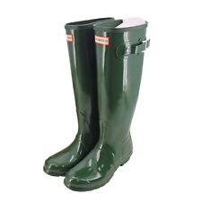 Hunter Women's Original Tall Gloss Rain Boots in Hunter Green, Size 8