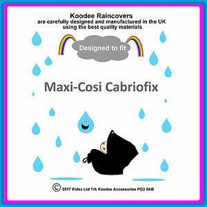 """RAINCOVER by Koodee designed to fit """"Maxi Cosi Cabriofix"""" Car Seat Made in UK BN"""