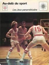 FICHE CARD Jeux panaméricains Pan American Games Cuba-Canada Basket-Ball 70s
