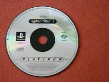SYPHON FILTER 3 PLATIN / PAL - SPAIN / ONLY DISC / PLAYSTATION PSX PS ONE 485