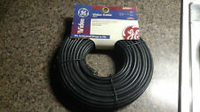 """Video Cable General Electric GE 100 feet Black Coaxial AV93513 """"F"""" type end Wire"""