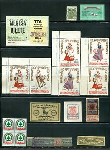 x221 - LATVIA Lot of Various Bits, Revenues, Cinderellas, Unknown etc