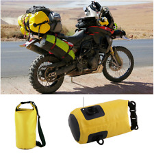 Motorcycle Waterproof Dry Bag Yellow For Hiking Swimming Outdoor Shoulder Beach