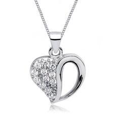 Halskette Zirkonia Herz Anhänger 925er Sterling Silber Geschenk für Damen Frauen