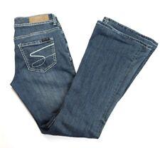 Seven 7 Womens Jeans Denim Flare Dark Wash Size 27