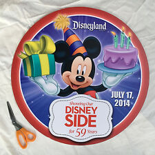 Disneyland Birthday Button SIGN Mickey Mouse Prop 2 ft x 2 ft