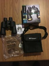 Emerson Binoculars 7 X 50 297 Ft At 1000 Yds Coated Uv Optics with Case & Covers