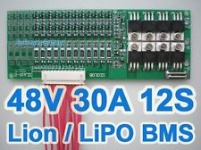 44V 48V 50.4V 12S 30A Li2MnO4 ion Li-ion LiPo Li-Polymer Battery BMS PCB System