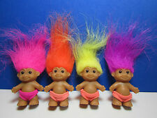 """FOUR BABY BOYS IN SWIMSUITS - 2"""" Russ Troll Doll - New - VERY RARE"""